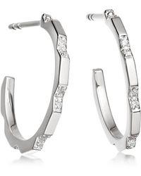 Astley Clarke - Diamond Aubar Hoop Earrings - Lyst