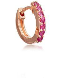 Astley Clarke - Mini Halo Pink Sapphire Single Hoop Earring - Lyst