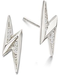 Astley Clarke - Mini Lightning Bolt Biography Stud Earrings - Lyst
