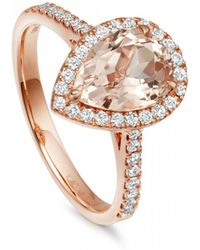 Astley Clarke - Morganite Pear Tearoom Ring - Lyst