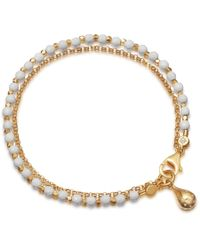 Astley Clarke - White Agate Dew Drop Biography Bracelet - Lyst
