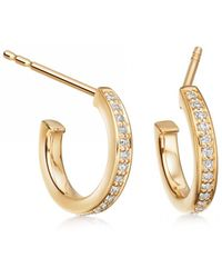 Astley Clarke - Sapphire Biography Infinity Hoop Earrings - Lyst