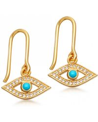 Astley Clarke - Evil Eye Biography Drop Earrings - Lyst