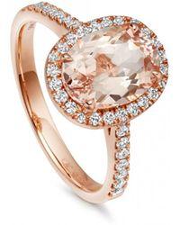 Astley Clarke | Morganite Oval Tearoom Ring | Lyst