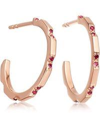 Astley Clarke - Ruby Aubar Hoop Earrings - Lyst