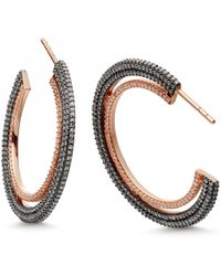 Astley Clarke - Large Icon Diamond Hoop Earrings - Lyst
