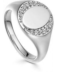 Astley Clarke - White Sapphire Biography Signet Ring - Lyst