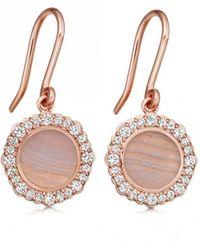 Astley Clarke - Luna Lace Agate Drop Earrings - Lyst