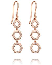 Astley Clarke - Triple Honeycomb Drop Earrings - Lyst