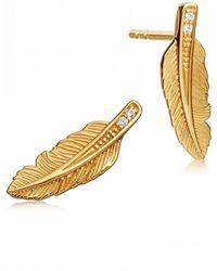Astley Clarke - Mini Feather Biography Stud Earrings - Lyst