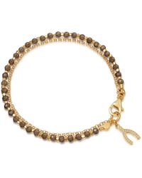 Astley Clarke - Smoky Quartz Wishbone Biography Bracelet - Lyst