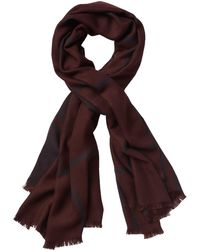 6bc2c6c9e38f Lyst - Modena Soft Knit Striped Blanket Scarf in Blue