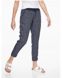 Athleta - Stripe Bali Linen Ankle Pant - Lyst