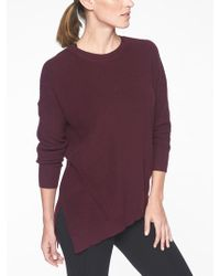 Athleta - Rest Day Asym Crewneck Sweater - Lyst