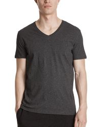 ATM | Classic Jersey V-neck Tee | Lyst
