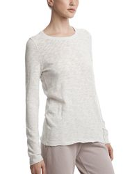 ATM - Slub Jersey Heathered Long Sleeve Destroyed Wash Tee - Lyst