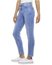 969905a5 Tommy Hilfiger - Tommy Jeans High Rise Izzy Azur Light Blue Jeans - Lyst
