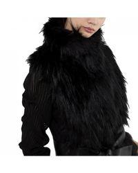 Patrizia Pepe Fur Gilet - Black