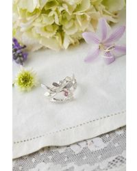 Amanda Coleman - Bird And Leaves Ring - Lyst