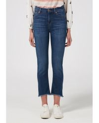 Donna Ida - Sidney Cropped Straight Jeans - Lyst