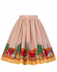 Collectif - Jasmine Tropical Fruit Swing Skirt - Lyst