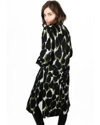 By Malene Birger - Kantai Olive Green Print Coat - Lyst