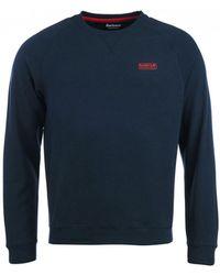 Barbour - International Navy Essential Crew Sweatshirt - Lyst
