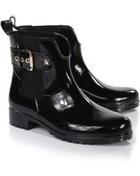 Tommy Hilfiger - Women's Oxley Chelsea Wellington Boots - Lyst