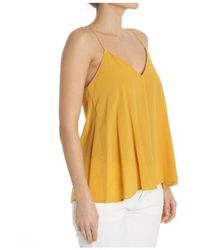 Ottod'Ame - Mustard-colored V Neck Top - Lyst