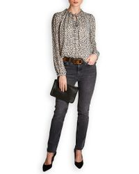 Rebecca Taylor - Silk Chiffon Cheetah Print Top - Lyst