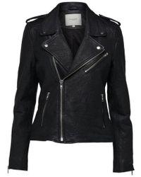 SELECTED - Sandy Leather Biker Jacket - Lyst
