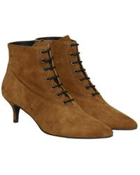 Gestuz - Camel Suede Ankle Boots - Lyst