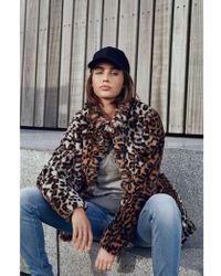 Fransa - Pafur Animal Print Faux Fur Coat - Lyst