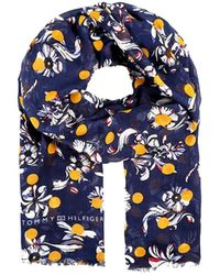 Tommy Hilfiger - Women's Flower Dots Lightweight Scarf - Lyst