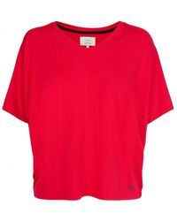 Numph - Drucilla Jersey Blouse Chinese Red - Lyst