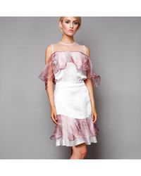 Atterley - Dahlia Skirt In Pink And White - Lyst