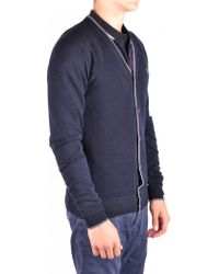 Fred Perry - Cardigan In Blue - Lyst