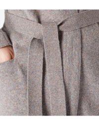 Sunspel - Lambswool Belted Cardigan In Marble - Lyst