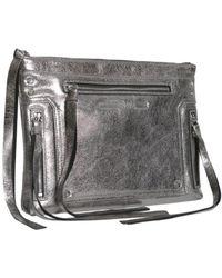 McQ Metallic Cracklè Leather Loveless Pouch