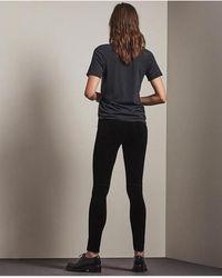 AG Jeans - Farrah Black Velvet Skinny - Lyst