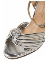 Rebecca Minkoff - Heeled Sandals In Silver - Lyst
