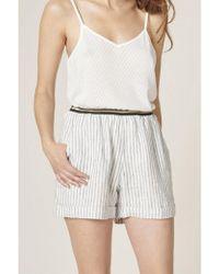 Harris Wilson - Chrislene Ticking Stripe Shorts - Lyst