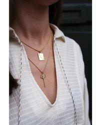 Anna + Nina - Palm Charm Gold Necklace - Lyst