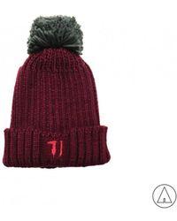 Trussardi - • Knitted Hat In Burgundy - Lyst