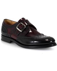 Church's - Pattie Monk Strap Black/light Burgundy Lace Up 39 - Lyst