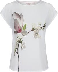 Ted Baker - Women's Tiza Harmony Woven Front T-shirt - Lyst