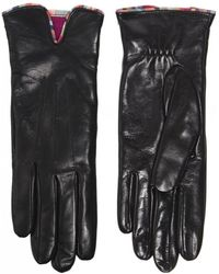 PS by Paul Smith - Black Leather Gloves With 'Swirl' Piping - Lyst