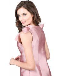 Merchant Archive - Duchess Satin Shoulder Tie Top Baby Pink - Lyst