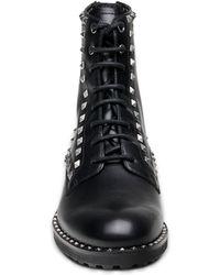 Ash - Wolf Studded Flat Boots Black - Lyst