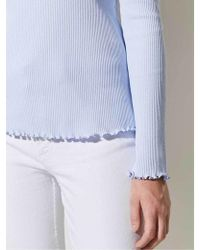 Great Plains - Rib Top In Chambray - Lyst